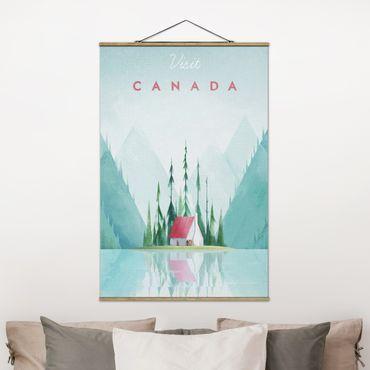 Stoffbild mit Posterleisten - Reiseposter - Canada - Hochformat 3:2