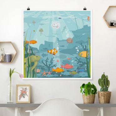 Poster - No.EK57 Meereslandschaft - Quadrat 1:1