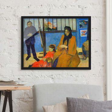 Bild mit Rahmen - Paul Gauguin - Familie Schuffenecker - Querformat 3:4