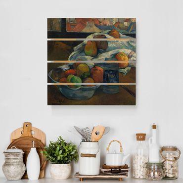Holzbild - Paul Gauguin - Obstschale - Quadrat 1:1