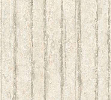 A.S. Création Streifentapete Best of Wood`n Stone 2nd Edition in Creme, Grau, Metallic