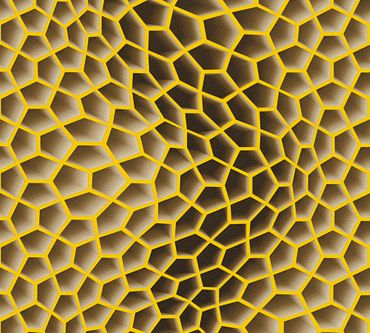 Livingwalls Mustertapete Harmony in Motion by Mac Stopa in Beige, Braun, Gelb