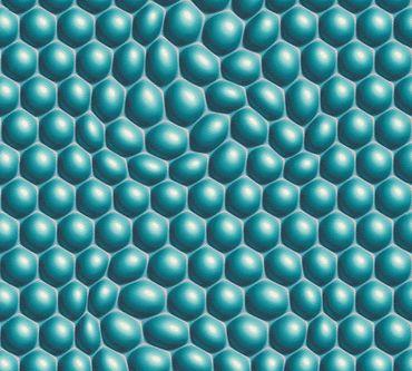 Livingwalls Mustertapete Harmony in Motion by Mac Stopa in Blau, Grau, Metallic