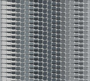 Livingwalls Mustertapete Harmony in Motion by Mac Stopa in Grau, Metallic, Weiß