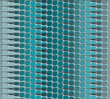 Livingwalls Mustertapete Harmony in Motion by Mac Stopa in Blau, Grau, Weiß