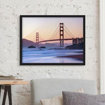 Bild mit Rahmen - San Francisco Romance - Querformat 3:4