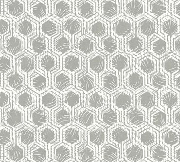Architects Paper Mustertapete Alpha in Metallic, Weiß