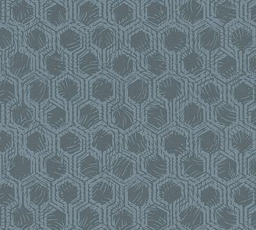 Architects Paper Mustertapete Alpha in Blau, Metallic