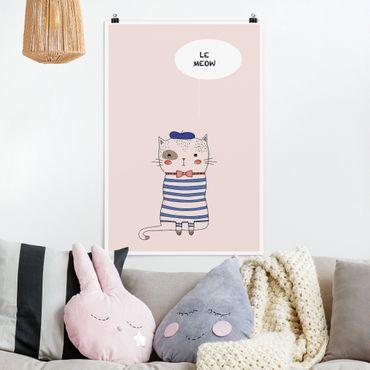 Poster - Katze in Frankreich - Hochformat 3:2