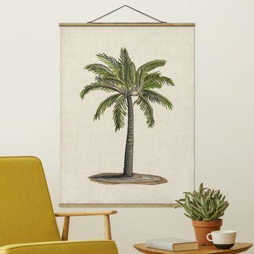 Stoffbild mit Posterleisten - Britische Palmen I - Hochformat 4:3