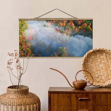 Stoffbild mit Posterleisten - Luftbild - Herbst Symphonie - Querformat 1:2