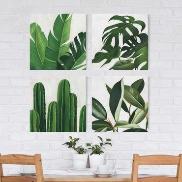 Leinwandbild 4-teilig - Lieblingspflanzen Tropical Set I