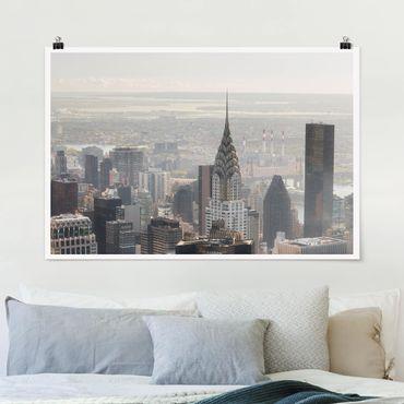 Poster - Vom Empire State Building Upper Manhattan NY - Querformat 2:3