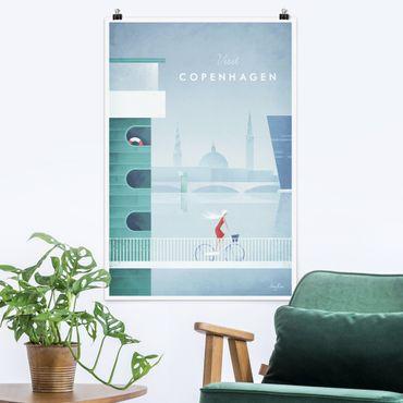 Poster - Reiseposter - Kopenhagen - Hochformat 3:2