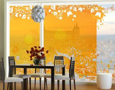 Fensterfolie - XXL Fensterbild Autumn - Fenster Sichtschutz