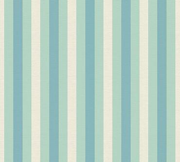 Lars Contzen Streifentapete Artist Edition No. 1 Pyjama Preféré in Blau, Grün