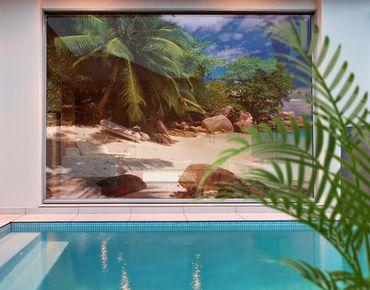 Fensterfolie - XXL Fensterbild Honeymoon in Hawaii - Fenster Sichtschutz