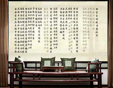 Fensterfolie - XXL Fensterbild No.CG195 Asiatische Lebensweisen - Fenster Sichtschutz