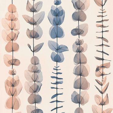 A.S. Création Strukturtapete X-Ray in Blau, Creme, Metallic