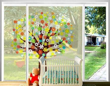 Fensterfolie - XXL Fensterbild Traumzauberbaum - Fenster Sichtschutz