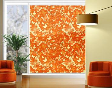 Fensterfolie - XXL Fensterbild Verzaubernde Schmetterlinge - Fenster Sichtschutz