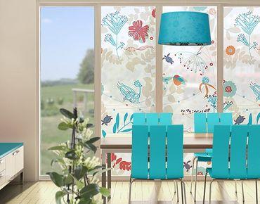 Fensterfolie - XXL Fensterbild Great Coastal Life - Fenster Sichtschutz