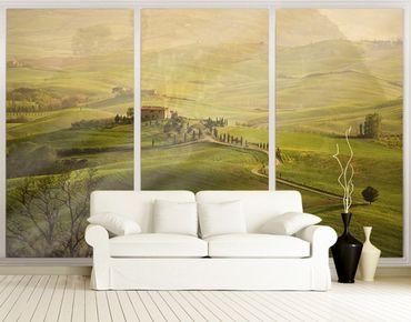 Fensterfolie - XXL Fensterbild Chianti Toskana - Fenster Sichtschutz