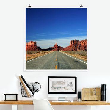 Poster - Colorado-Plateau - Quadrat 1:1