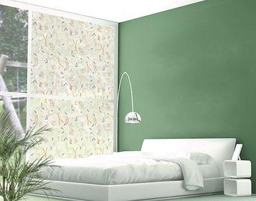 Fensterfolie - XXL Fensterbild Pastel Plushies - Fenster Sichtschutz
