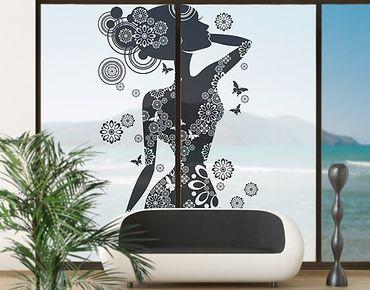Fensterfolie - XXL Fensterbild Sinnlichkeit - Sichtschutzfolie mit Druck