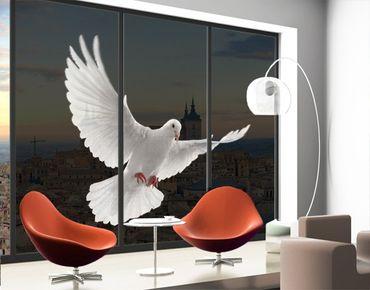 Fensterfolie - XXL Fensterbild Friedenstaube - Fenster Sichtschutz
