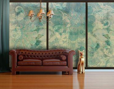 Fensterfolie - XXL Fensterbild Eisblumen - Fenster Sichtschutz