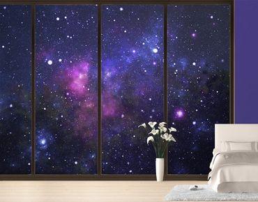 Fensterfolie - XXL Fensterbild Galaxie - Fenster Sichtschutz