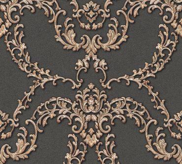 Architects Paper Mustertapete Luxury Classics in Metallic, Rot, Schwarz