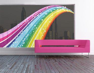 Fensterfolie - XXL Fensterbild Rainbow - Fenster Sichtschutz
