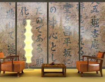 Fensterfolie - XXL Fensterbild Japanische Schrift - Fenster Sichtschutz