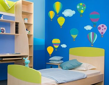 Wandtattoo Babyzimmer No.RS142 Zahlenballons