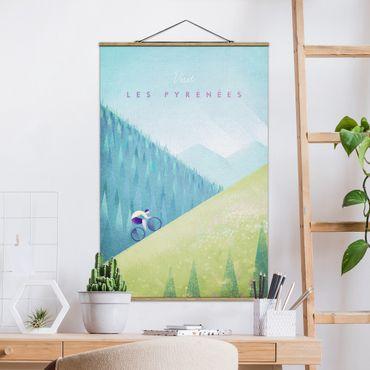 Stoffbild mit Posterleisten - Reiseposter - Die Pyrenäen - Hochformat 3:2