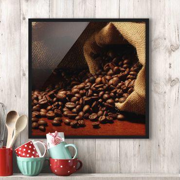Bild mit Rahmen - Dulcet Coffee - Quadrat 1:1