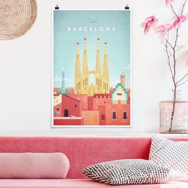 Poster - Reiseposter - Barcelona - Hochformat 3:2
