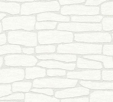 A.S. Création Mustertapete Meistervlies 2020 in Weiß, Überstreichbar