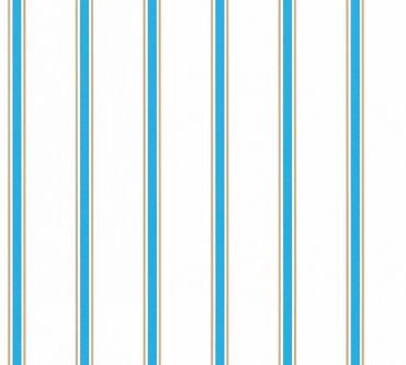 Esprit Streifentapete Esprit Kids 5 in Blau, Braun, Weiß