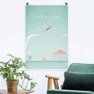 Poster - Reiseposter - Côte d´Azur - Hochformat 3:2