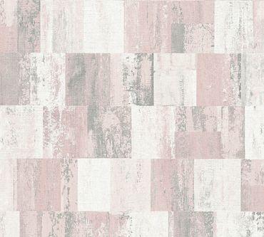 Livingwalls Strukturtapete Titanium 2 in Creme, Metallic, Rosa