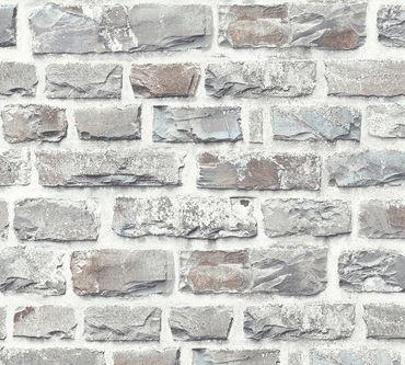 Livingwalls Mustertapete Neue Bude 2.0 in Bunt, Grau