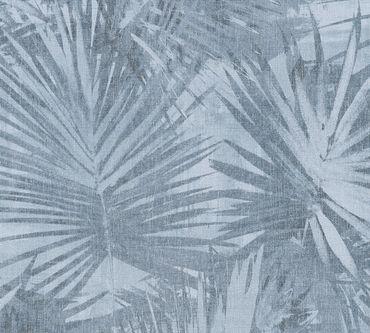 Livingwalls Mustertapete Hygge in Blau, Grau