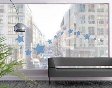 Fensterfolie - Fenstertattoo No.1171 Sterne I 12er Set - Milchglasfolie