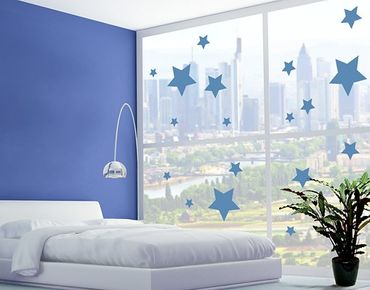 Fensterfolie - Fenstertattoo No.1190 Sterne I 18er Set - Milchglasfolie