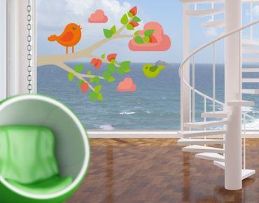 Fensterfolie - Fenstersticker No.EK142 Happy Birdy - Fensterbilder