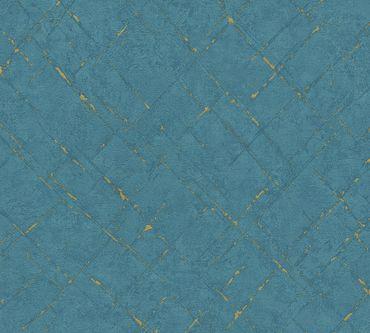 A.S. Création Strukturtapete Emotion Graphic in Blau, Metallic